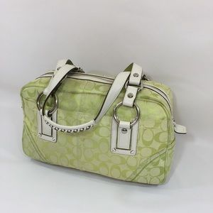 Coach Pastel Green Shoulder Bag